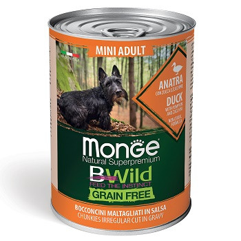 Monge BWild Mini консервы для собак мелких пород с уткой