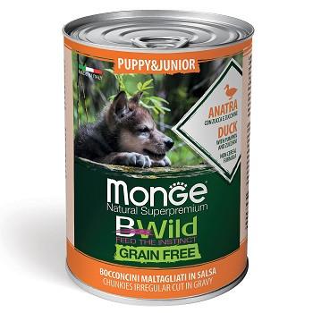 Monge BWild Puppy&Junior консервы для щенков с уткой
