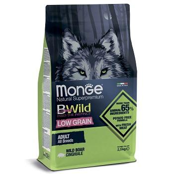 Monge BWild Low Grain Adult корм для собак всех пород с кабаном