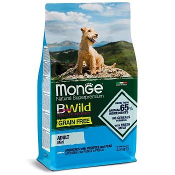 Monge BWild Grain Free Mini беззерновой корм для собак мелких пород с анчоусами