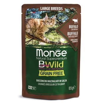 Monge BWild Large Breed пауч для кошек с буйволом и овощами