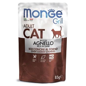 Monge Cat Grill паучи для взрослых кошек с ягненком