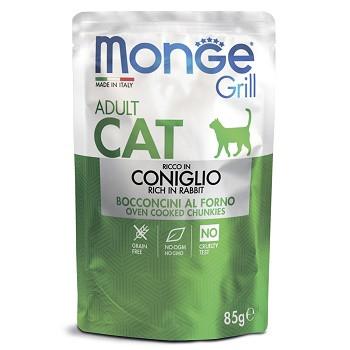 Monge Cat Grill паучи для взрослых кошек с кроликом