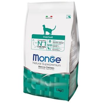 Monge Hairball сухой корм для кошек для выведения шерсти
