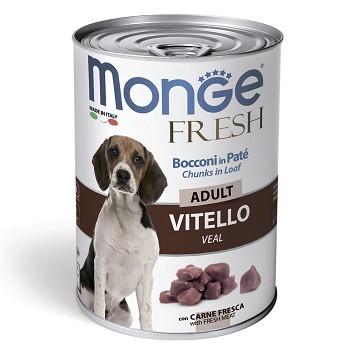 Monge Dog Fresh Adult консервы для собак с телятиной