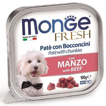 Monge Dog Fresh консервы для собак с говядиной