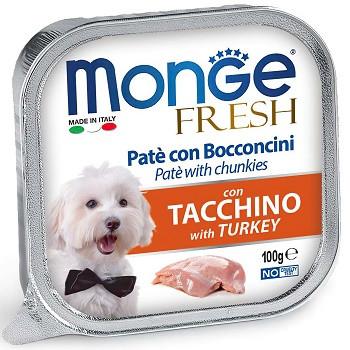 Monge Dog Fresh консервы для собак с индейкой