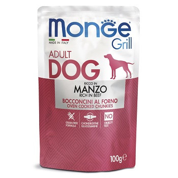 Monge Dog Grill паучи для собак с говядиной