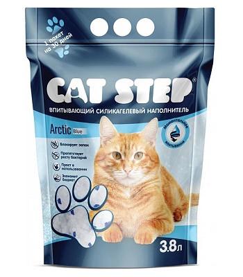 Cat Step Arctic Blue наполнитель силикагелевый
