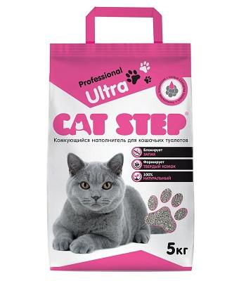 Cat Step Professional Ultra наполнитель бентонитовый комкующийся