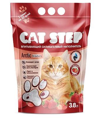 Cat Step Strawberry наполнитель силикагелевый