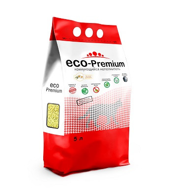 ECO-Premium Ромашка комкующийся древесный наполнитель