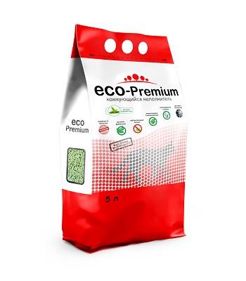 ECO-Premium Зеленый чай комкующийся древесный наполнитель