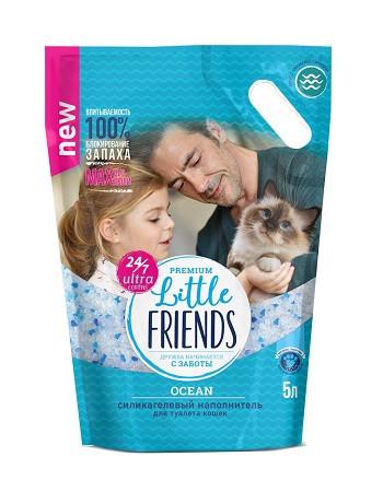 Little Friends Ocean наполнитель для туалета силикагелевый