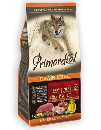 Primordial GF Adult беззерновой сухой корм для собак всех пород с буйволом и макрелью