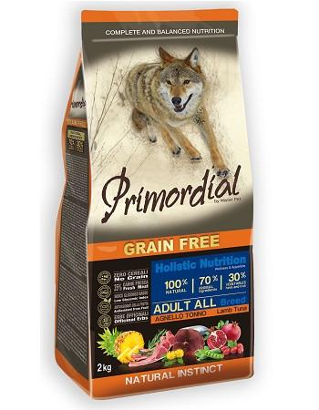 Primordial GF Adult беззерновой сухой корм для собак всех пород с тунцом и ягненком