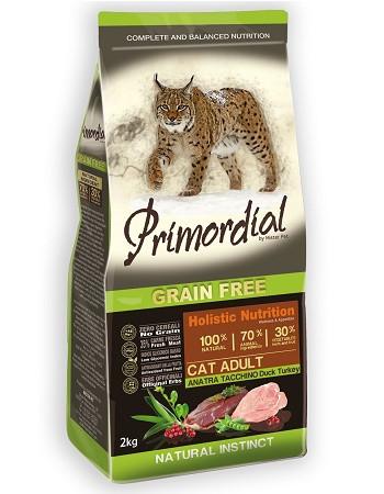 Primordial Cat Adult беззерновой сухой корм для кошек с уткой и индейкой