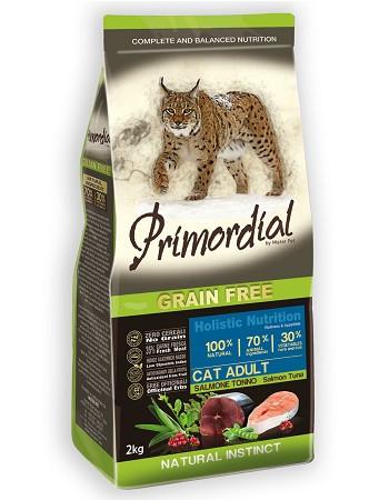 Primordial Cat Adult беззерновой сухой корм для кошек с лососем и тунцом
