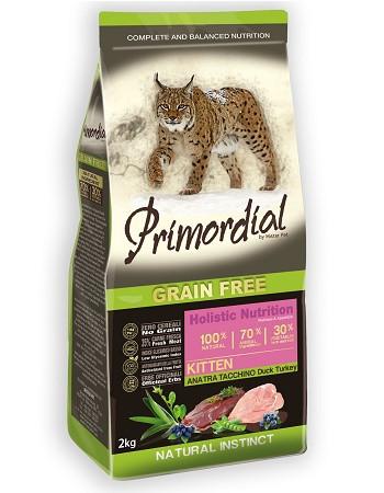 Primordial Kitten беззерновой сухой корм для котят с уткой и индейкой