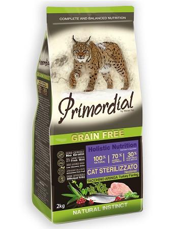 Primordial Cat Sterilised беззерновой сухой корм для кошек с индейкой и сельдью