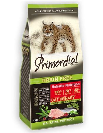 Primordial Cat Urinary беззерновой сухой корм для кошек с индейкой и сельдью