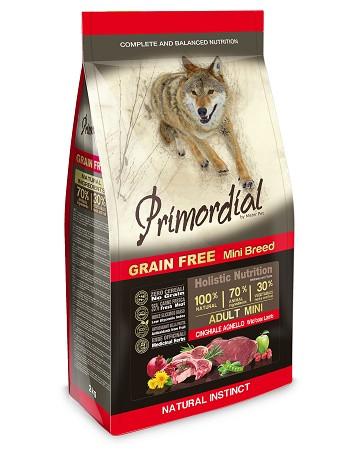 Primordial GF Adult Mini беззерновой сухой корм для собак мелких пород с кабаном и ягненком
