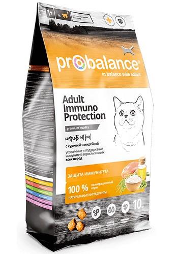 ProBalance Immuno сухой корм для взрослых кошек с курицей и индейкой