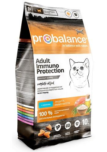 ProBalance Immuno сухой корм для взрослых кошек с лососем