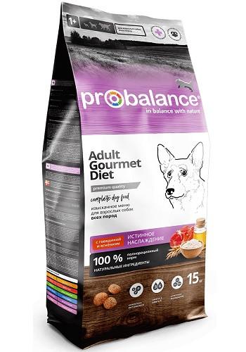 ProBalance Gourmet Diet Adult сухой корм для взрослых собак с говядиной и ягненком