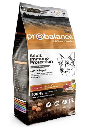 ProBalance Immuno Adult Beef сухой корм для взрослых собак с говядиной