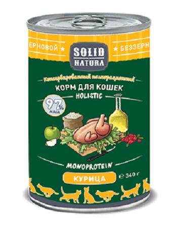 Solid Natura Holistic консервы для кошек с курицей
