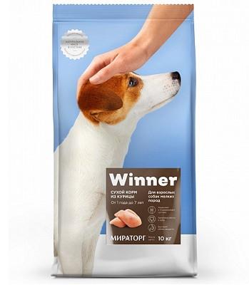 Winner сухой корм для взрослых собак мелких пород с курицей